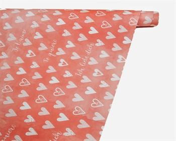 Бумага упаковочная, 70х100 см, «With love», 1 лист - фото 10024