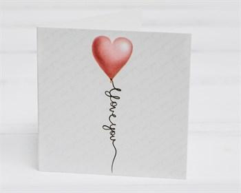Открытка «I Love you», 7х7см, 1шт. - фото 10057