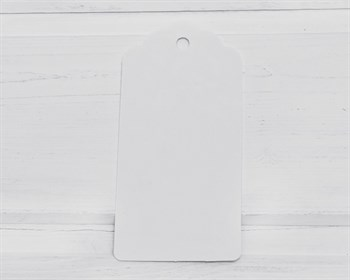 Бирка  из мелованного картона, 9,5х4,5 см, белая - фото 10101