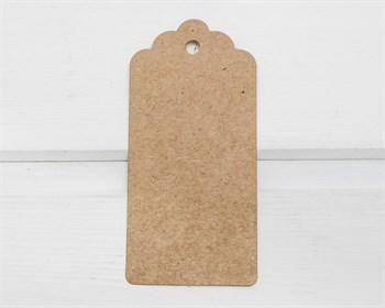 Бирка  из мелованного картона, 9,5х4,5 см, крафт - фото 10104