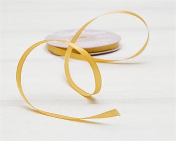 Лента атласная, 6 мм, золотая, 1 м - фото 10142