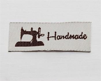 Нашивка «Hand made», 4,5х1,5 см, 1шт. - фото 10160