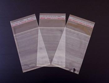 Пакет  с клейкой лентой 8,5х13 см, прозрачный, 200 шт. - фото 10194