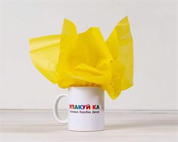 Бумага тишью, желтая, 50х66 см - фото 10203