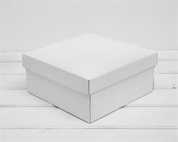 Коробка из плотного картона, 20х20х9 см, крышка-дно, белая - фото 10268