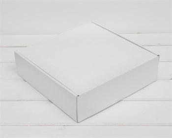 Коробка для посылок, 25х25х7 см, из плотного картона, белая - фото 10291