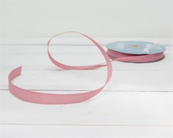 Лента репсовая, 12 мм, темно-розовая, 1 м - фото 10297