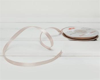 Лента атласная, 6 мм, крем-брюле, 1 м - фото 10300