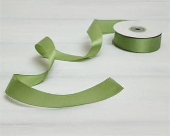 Лента атласная, 24 мм, светло-зеленая, 1 м - фото 10310