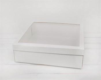 УЦЕНКА Коробка для венка с прозрачным окошком, 40х40х12 см, белая - фото 10343