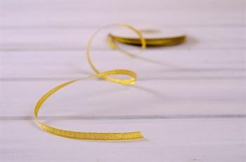 Лента металлизированная, 6 мм, золотая, 22 м - фото 10397