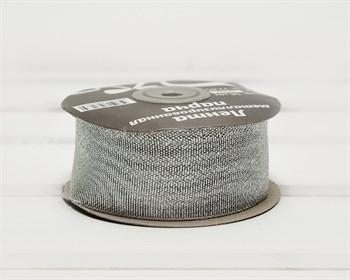 Лента металлизированная, 38 мм, серебряная, 22 м - фото 10412