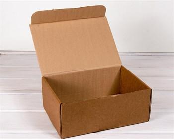 Коробка для посылок, 31х21х12,5 см из плотного картона, крафт - фото 10420