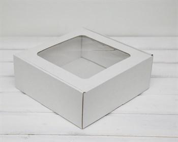 УЦЕНКА Коробка с окошком, 25х25х10 см, из плотного картона, белая - фото 10449