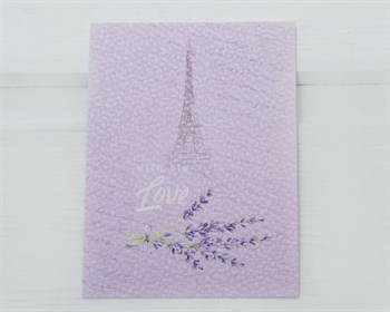 Открытка «With big Love», Париж, 8х6см, 1шт. - фото 10484