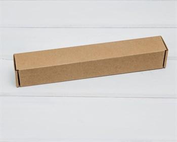 Коробка из плотного картона, 22,6х3,5х3,5 см, крафт - фото 10486