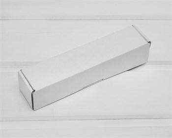 Коробка из плотного картона, 16,6х3,5х3,5 см, белая - фото 10496
