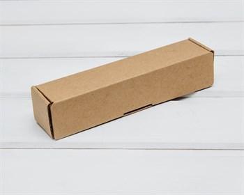 Коробка из плотного картона, 16,6х3,5х3,5 см, крафт - фото 10498