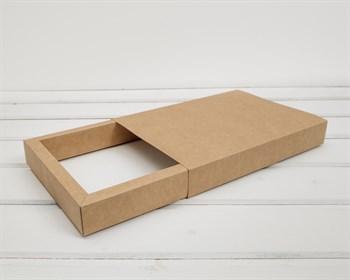 Коробка-пенал, 21,5х14,5х3,5 см, крафт - фото 10516