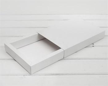 Коробка-пенал, 21,5х14,5х3,5 см, белая - фото 10520