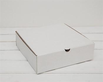 УЦЕНКА Коробка для пирога 23х23х7 см из плотного картона, белая - фото 10563