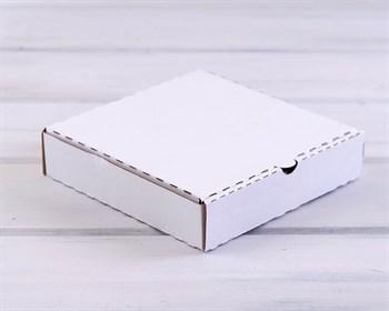 УЦЕНКА Коробка 19х19х4 см из плотного картона, белая - фото 10582