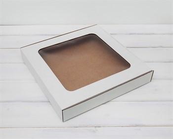 УЦЕНКА Коробка плоская с окошком, 30х30х4,5 см, белая - фото 10586