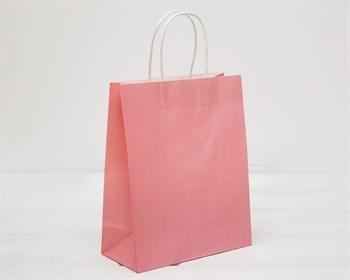 УЦЕНКА Пакет подарочный, 26х21х10 см, с кручеными ручками, розовый - фото 10618