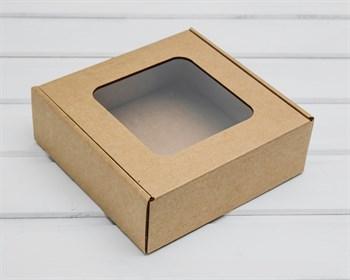 Коробка с окошком 18,5х18,5х6,5 см, крафт - фото 10655