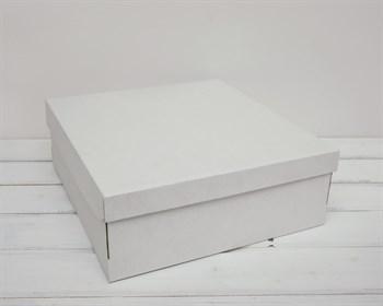 УЦЕНКА Коробка из плотного картона, 33х31х11,5 см, крышка-дно, белая - фото 10718