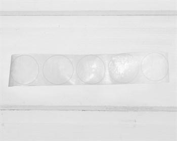 Наклейки прозрачные, круглые, d=3,8 см, 5 шт. - фото 10722