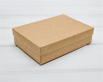 Коробка из мелованного картона, 21х15х5 см, крышка-дно, крафт - фото 10742