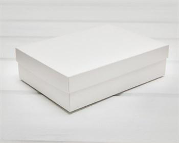 Коробка из мелованного картона, 21х15х5  см, крышка-дно, белая - фото 10746