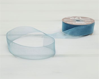 Лента капроновая, 24 мм, голубая, 27 м - фото 10760