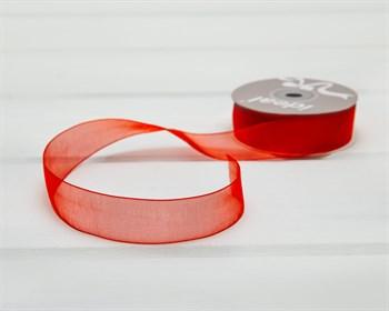 Лента капроновая, 24 мм, красная, 27 м - фото 10770