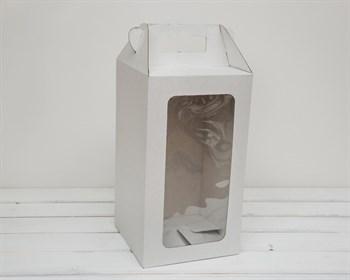 УЦЕНКА Коробка для кукол, с окошком и ручкой, 36х20х20 см, белая - фото 10849
