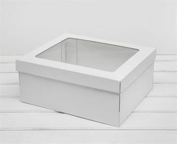Коробка с окошком 29х24х12 см, крышка-дно, белая - фото 10902