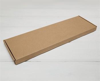 Коробка 51х16х2,5 см, из плотного картона, крафт - фото 10950