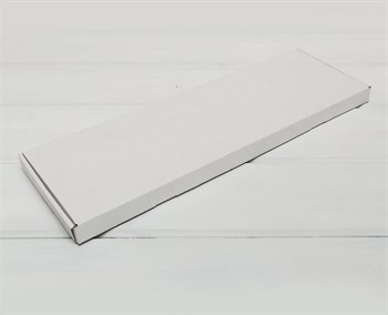 Коробка 51х16х2,5 см, из плотного картона, белая - фото 10955