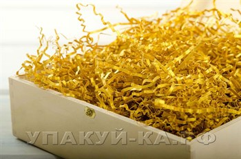 Наполнитель бумажный №014  Дизайнерский золотой, 100 грамм - фото 4475