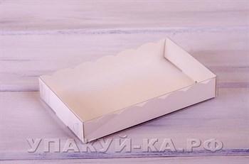 Коробка для пряников и печенья  Ажурная,18х11х3 см,  белая - фото 4622