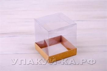 Коробка подарочная, 12х12х13 см, с прозрачной крышкой - фото 4646