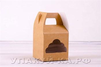 Коробка для капкейков/маффинов на 1 шт, 10х10х11 см, крафт,  Облачко - фото 4663