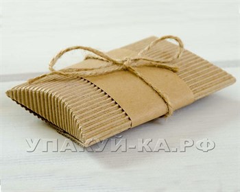 Коробка с крафт-полосой для пожеланий и бечевкой, 12х8х2 - фото 4722