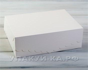 Коробка для капкейков/маффинов на 12 шт, с кружевом, 33х25х11 см, белая - фото 4732