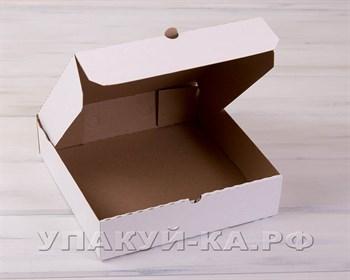 Коробка для пирога 28х28х7 см из плотного картона, белая - фото 4845