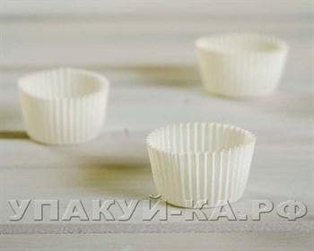 Форма бумажная для капкейков/маффинов/кексов, круглая, d40, h25, 25 шт/упак - фото 5015