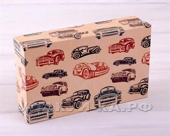 Коробка подарочная  Ретро автомобили, разные размеры - фото 5143
