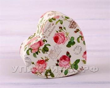 Коробка подарочная  Винтажное сердце, разные размеры - фото 5153