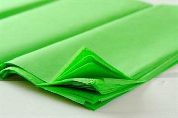 Бумага тишью, зеленое яблоко, 50х66см - фото 5360